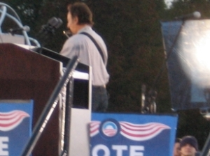 B. Springsteen at a 2008 Obama rally